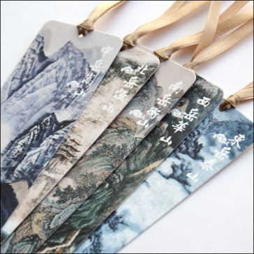 Landscape Painting Bookmarks - Five Mountains (Set of 5)