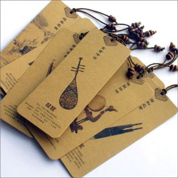 Bookmarks - Traditional Chinese Music Instruments (Set of 10)