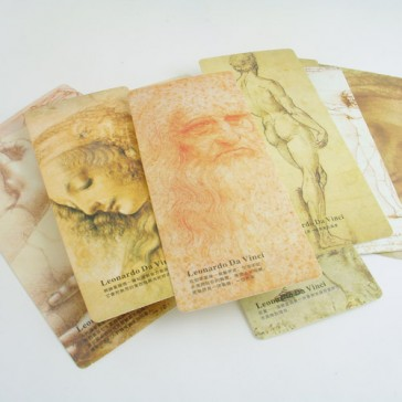 Artworks of Leonardo da Vinci  (Set of 10 Bookmarks)