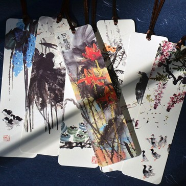 Chinese ink Painting Bookmarks (Set of 8)