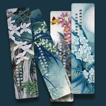 Orchid Painting Bookmarks (Set of 4)