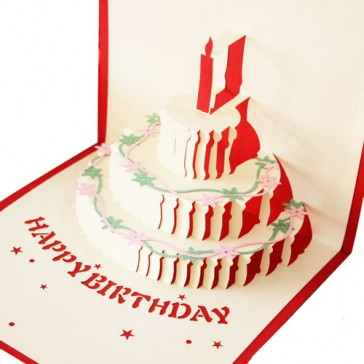 Handmade 3D Greeting Cards - Happy Birthday