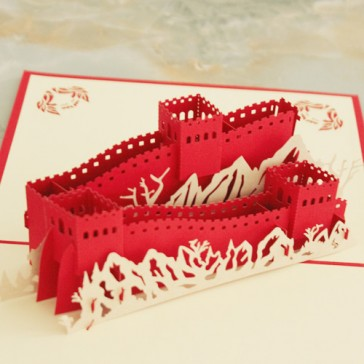 Handmade 3D Pop Up Greeting Cards - Great Wall of China