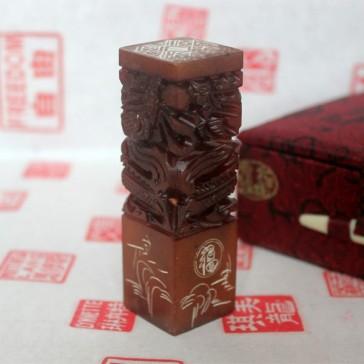 Custom Chop Carving: Two Dragons