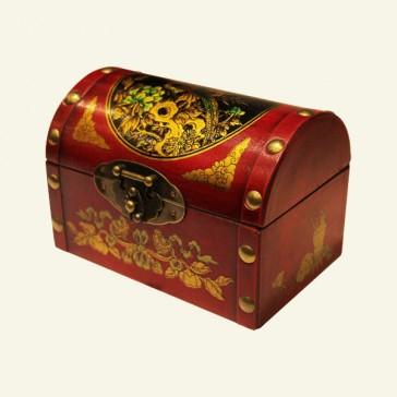 Bird & Floral Wood Jewelry Box