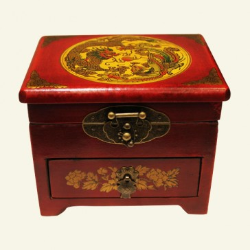 Oriental Dragon & Phoenix Wood Box