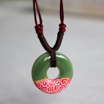 Red and Green Cloud Necklace