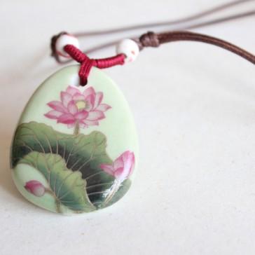 Lotus Blossom Porcelain Necklace