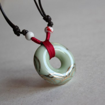 Mint Green Porcelain Necklace
