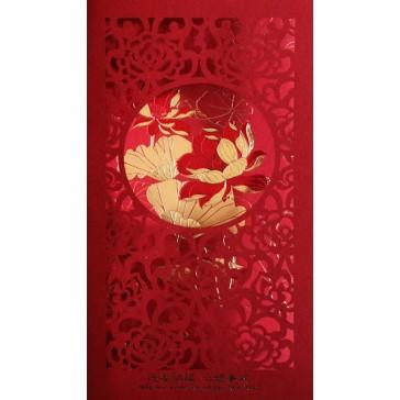 Tri-fold Greeting Cards - Lotus (Set of 5 Cards)