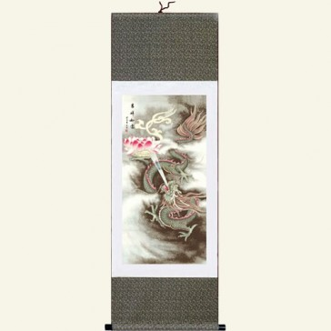 Chinese Wall Scroll - Auspicious Dragon