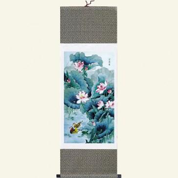 Silk Scroll - Chinese Flower & Bird Painting
