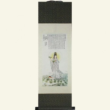 Guanyin Painting Silk Wall Scroll