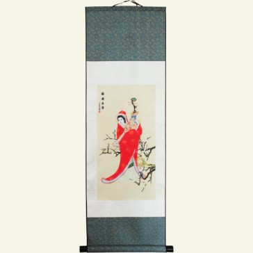 Wang Zhaojun Chinese Painting Silk Scroll