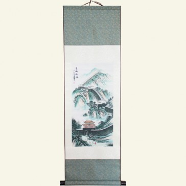 The Great Wall Chinese Painting Silk Scroll