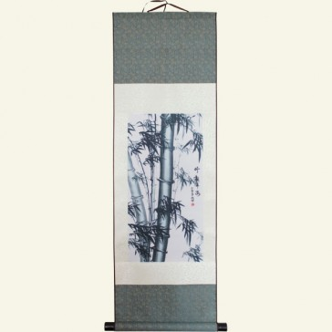 Bamboo Chinese Painting Silk Scroll