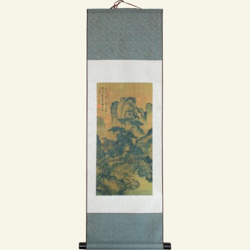 Silk Wall Scroll - Ancient Chinese Landscape Painting