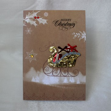 Merry Christmas Greeting Cards #3 (Set of 5)