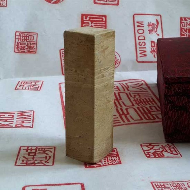 1 Piece of Square Stone Chinese Seal Custom Birthday Gift Stone Stamp Chisel Carve Signature Name Chop Calligraphy Painting Collection E377