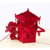 Handmade 3D Pop up Card - Chinese Bridal Sedan Chair