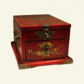 Butterfly & Floral Wood Jewelry Box