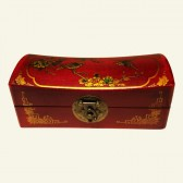 Lacquered Chinese Wood Jewelry Box