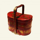 Chinese Wood Jewelry Tiered Basket Box