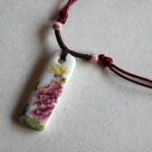 Colorful Floral Rectangle Necklace