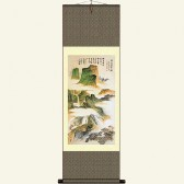 Ancient Chinese Landscape Painting Wall Scroll