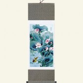 Silk Scroll - Chinese Flower & Bird Painting