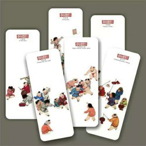 Bookmarks - Kids Playing Folk Paintings (Set of 6)