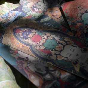 Paper Bookmarks - Tibet Painting Scrolls (Set of 8)