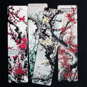 Plum Blossom Painting Bookmarks (Set of 4)