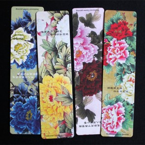 Peony Painting Bookmarks (Set of 4)