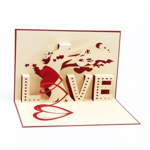 Hand-made 3D Pop Up Greeting Cards - Love Tree