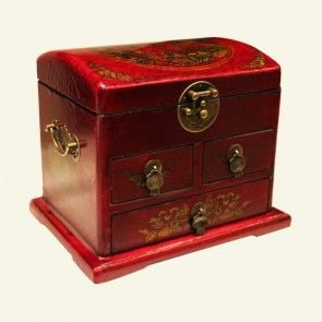 Dragon & Phoenix Wood Jewelry Box