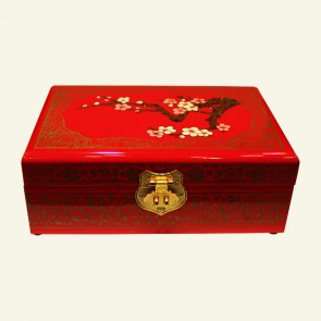 Plum Blossom Wooden Jewelry Box
