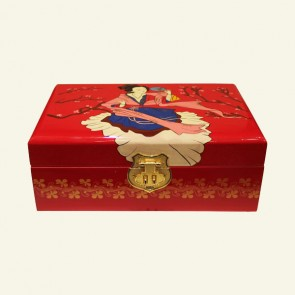Chinese Lady Wooden Jewelry Box
