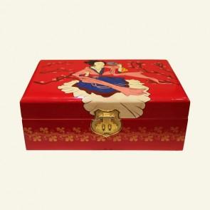 Chinese Lady Wooden Jewelry Box