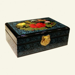Black Oriental Wood Jewelry Box