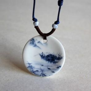 Landscape Porcelain Pendant Necklace