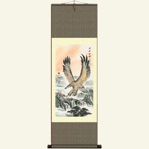 Eagle Painting Silk Wall Scroll