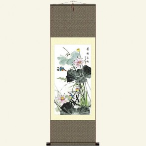 Chinese Silk Scroll - Flower & Bird Painting