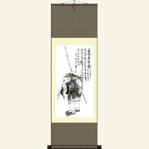 Silk Wall Scroll - Chinese Fisherman