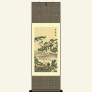 Silk Wall Scroll - Qingming Festival by the Riverside