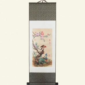 Flower & Bird Chinese Painting Silk Scroll