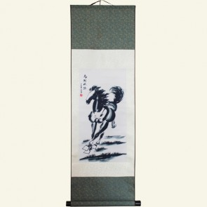 Silk Wall Scroll - Auspicious Horse of Swift Success