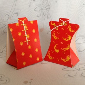 Favor Boxes - Traditional Chinese Dress - Set of 2pcs (1 pair)
