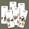 Bookmarks - Kids Playing Folk Paintings (Set of 6)